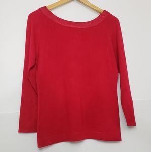 Clothing Co. Tomato Red Crewneck Long Sleeve Top